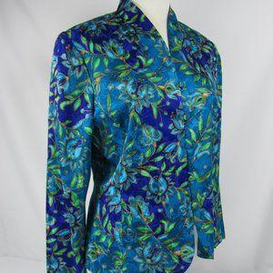 Adrianna Papell silk Mandarin Collar Blouse Sz 12